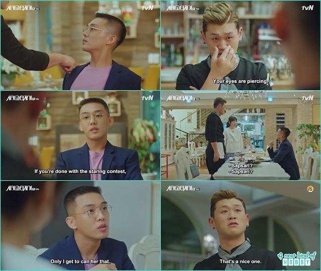 jeon seol chef friend jealous from se joo - Chicago Typewriter: Episode 10 korean drama