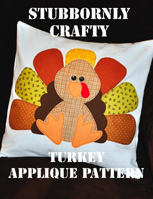 Stubbornly Crafty: Turkey Applique Pattern