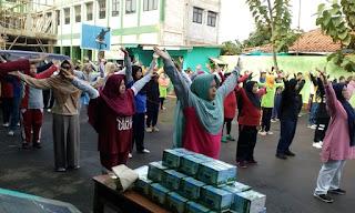 Senam Haji Sehat di Kbih Darun Nadwah bersama SUSU HAJI SEHAT, Cikarang Jawa Bharat