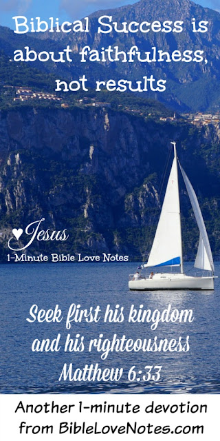Seek First God's kingdom, Matthew 6:33