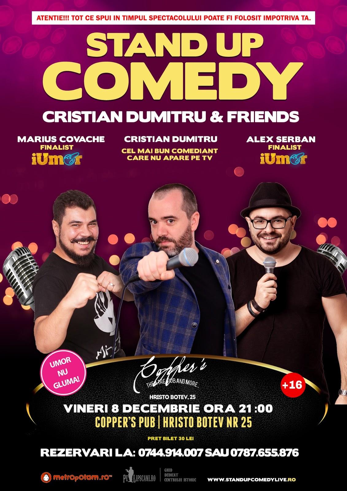Stand-Up Comedy Bucuresti Vineri 8 Decembrie 2017
