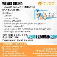 We Are Hiring at PT. Shelter Nusa Indah Surabaya Januari 2020
