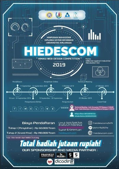 "HIEDESCOM 2019 ""Millenials Against Industrial Revolution 4.0"" - Universitas Airlangga"