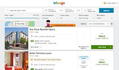 Tempah hotel di Gare de Lyon guna Trivago.com