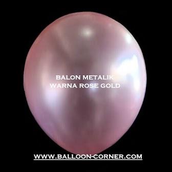 Balon Latex Metalik 12 Inchi DECOTEX Warna Rose Gold (New Colour)