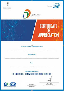 Digital India Free Certificate   Ideate for India - Government Certificate for Everyone