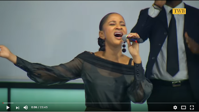 Amazing Worship Session Led By Banky W's Wife,Adesua Etomi-Wellington