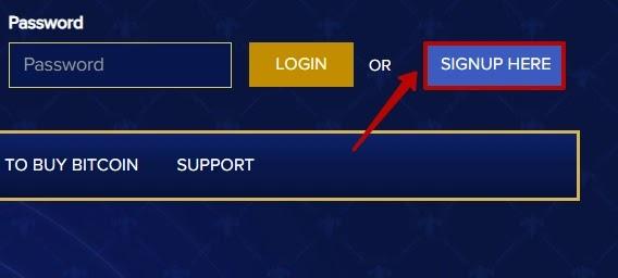 Регистрация в Bit Tron