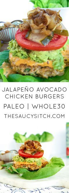 JALAPEÑO AVOCADO CHICKEN BURGERS