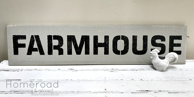 Stenciling a Large Farmhouse Sign