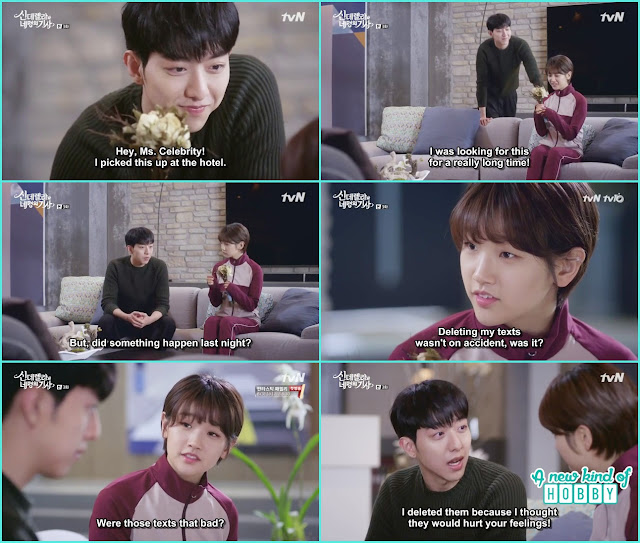 Seo woo give the flower bouquet to Ha Won - Cinderella and 4 Knights - Episode 3 Review
