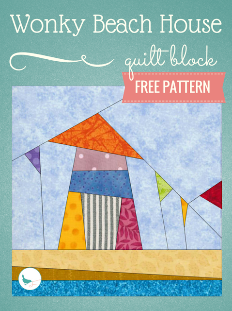 free wonky beach house quilt block pattern
