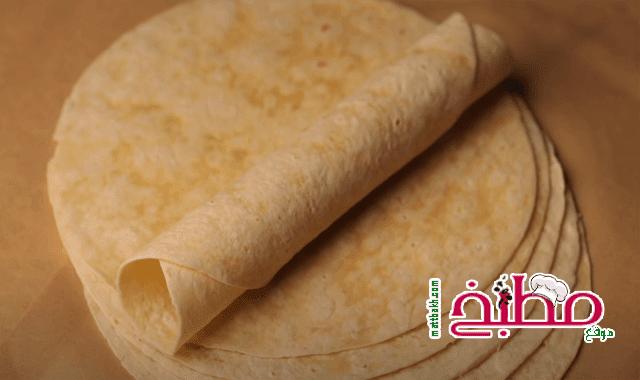 خبز التورتيلا لسندوتشات الشاورما هبة ابو الخير
