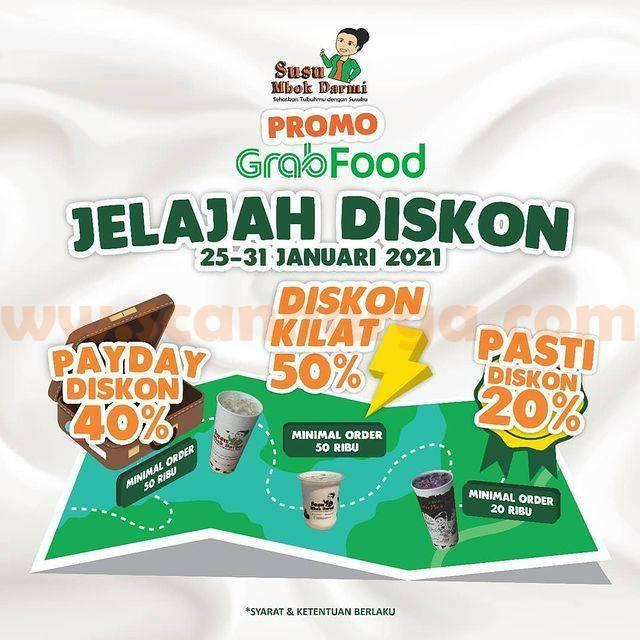 Susu Mbok Darmi Spesial Payday Promo Grabfood! Diskon Kilat hingga 50%