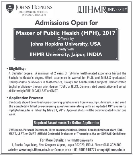 Master of Public Health Program