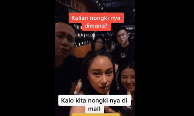 Viral Video Muda-mudi: Kita Orang Kaya Nongkrongnya di Mall, Yang di Pinggiran Gausah Temanan sama Kita