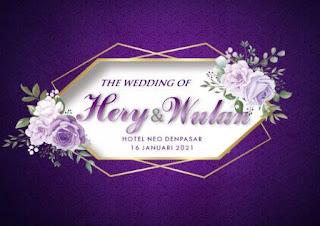 16012021 THE WEDDING OF HERY AND WULAN AT HOTEL NEO DENPASAR