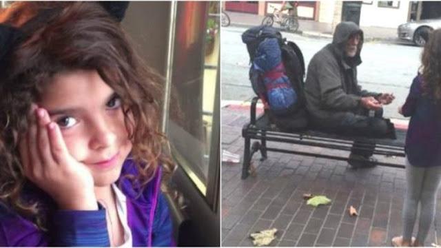 Девочка отдала свою еду бездомному: добрый поступок изменил жизнь обоих