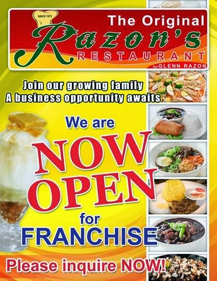 Razon S Restaurant We Are Now Open For Franchising