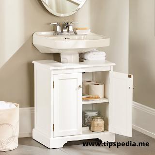 bathroom cabinet for pedestal sink