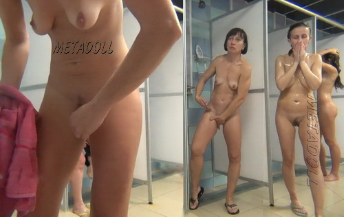 Hidden cam in the shower room for ladies (Hidden Camera Public Shower 01-07)