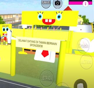 ID Taman Bermain Spongebob Di Sakura School Simulator