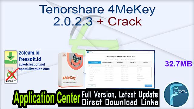 Tenorshare 4MeKey 2.0.2.3 + Crack_ ZcTeam.id