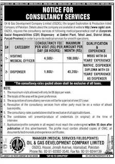 OGDCL Jobs 2020/21, Oil and Gas Development Company Advertisement