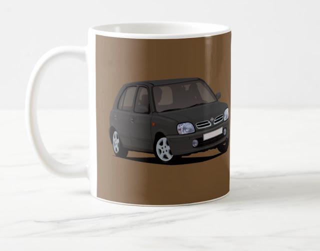 Nissan Micra kahvimukista kahvikin maistuu bensalta