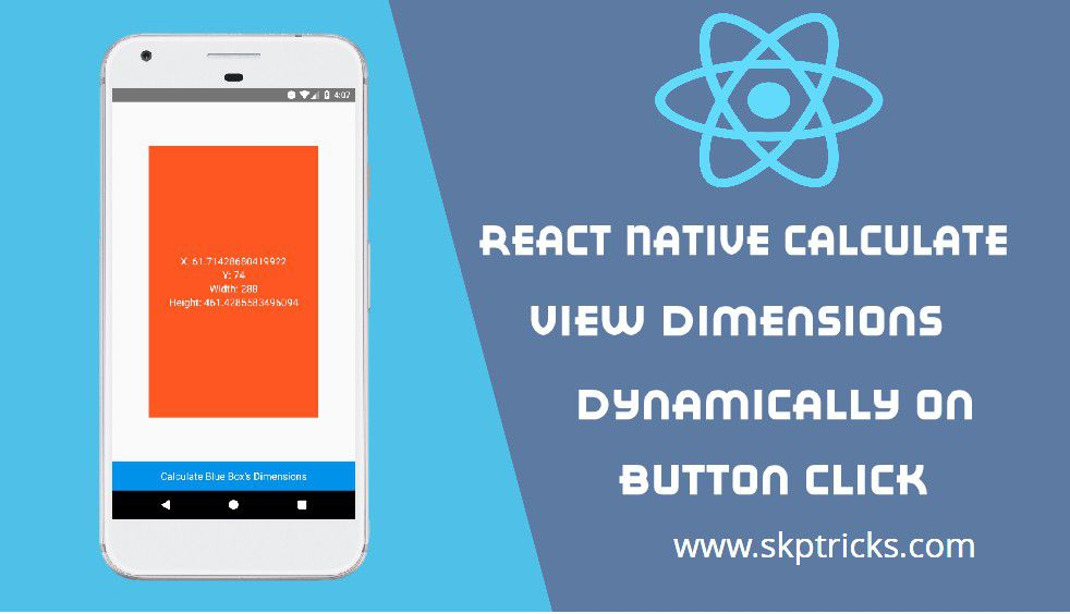 React Native Calculate View Dimensions dynamically on Button click