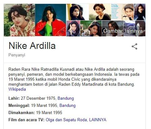 Fakta Menarik Penyanyi Legendaris Dari Indonesia Yang Bernama Nike Ardila