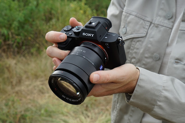 Sony a7S II in the hands