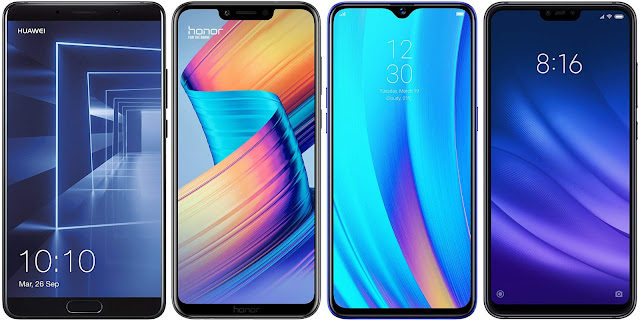 Huawei Mate 10 vs Honor Play vs Realme 3 Pro 64 GB vs Xiaomi Redmi Mi 8 Lite 128G