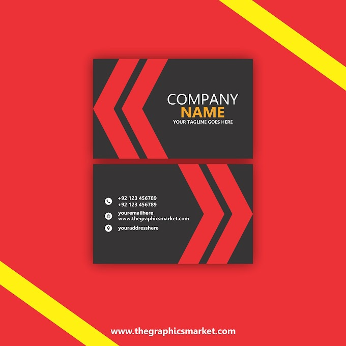 Black Red Business Card Template   Free Download