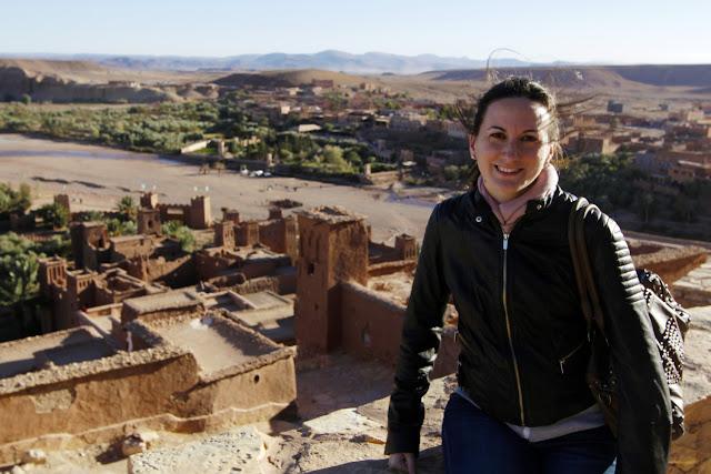 Lena en la Kasbah de Aït Ben Haddou