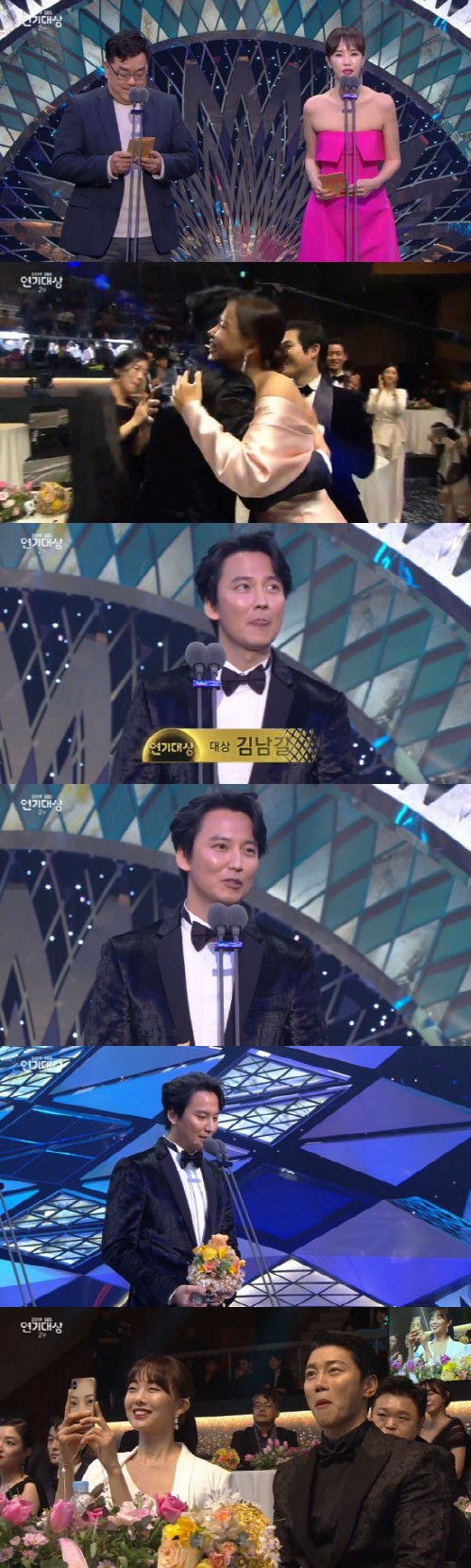 Actor Kim Namgil won the Daesang for his work 'The Fiery Priest' at 2019 SBS Drama Awards!
