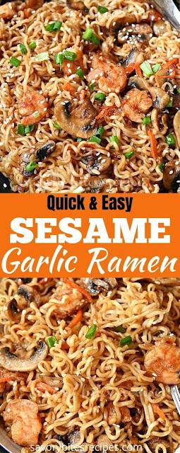 best ever sesame garlic ramen