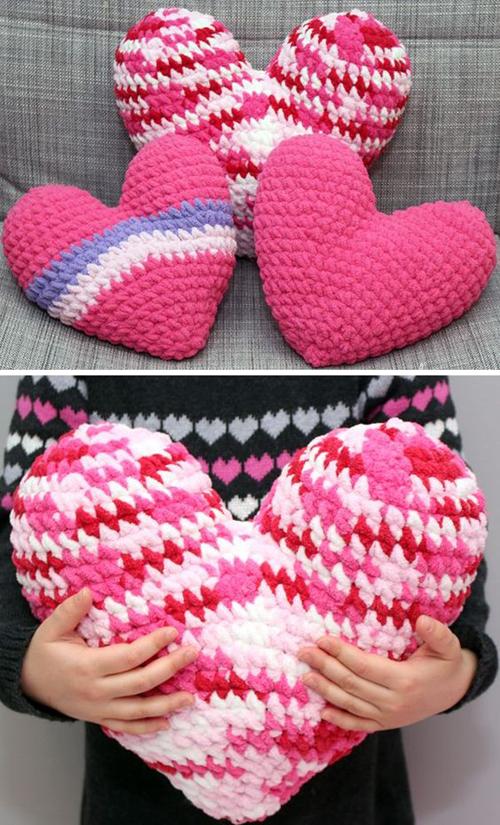 Crochet Heart Pillow - Free Pattern