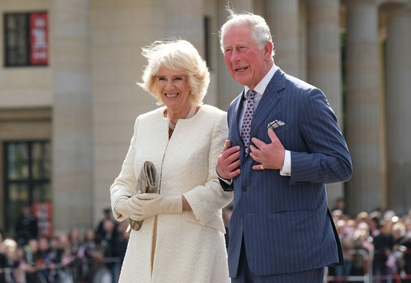 The Prince of Wales and The Duchess of Cornwall in Berlin. Chancellor Angela Merkel. The Queen's Birthday Party