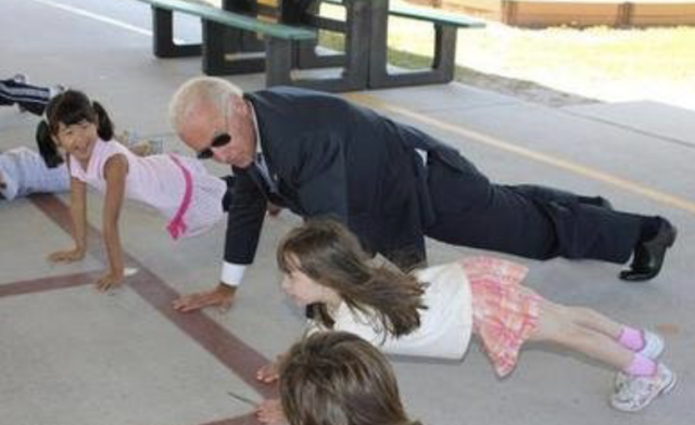 Pushups won't make Biden campaign strong
