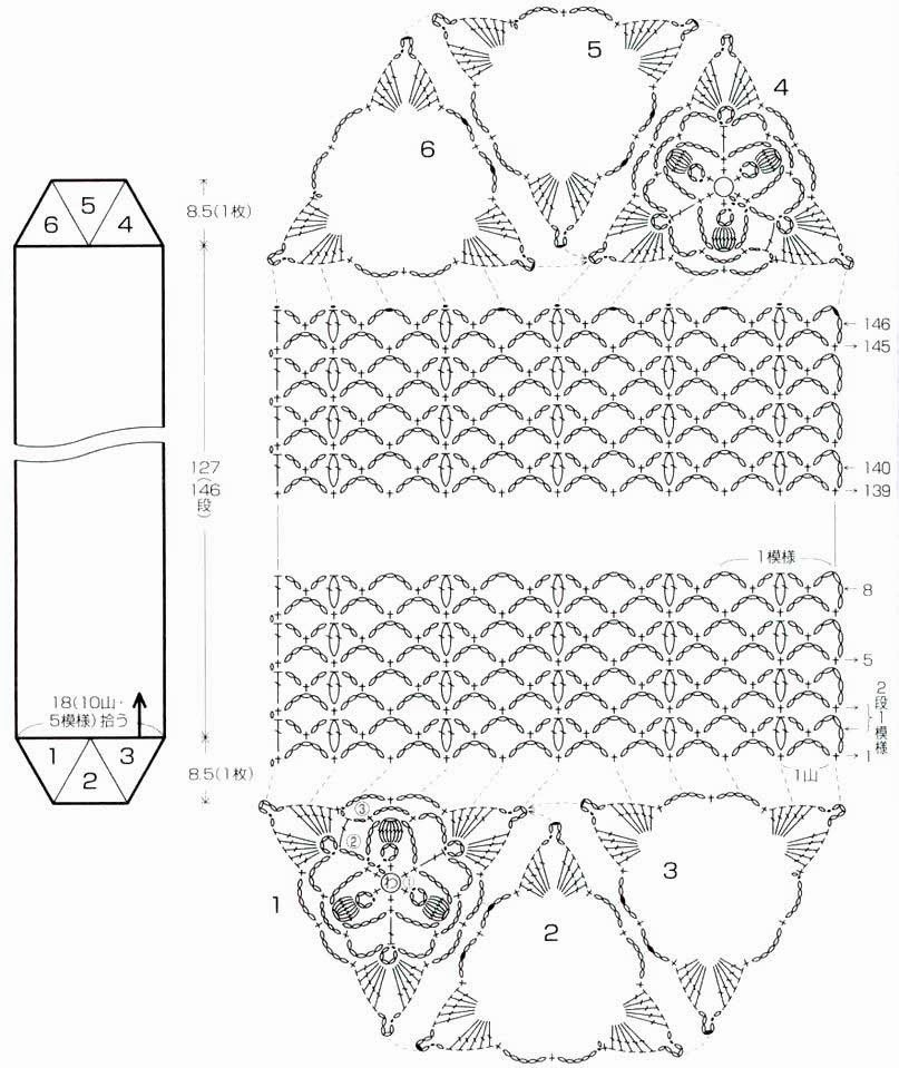 Excepcional Patrón De Borde Festoneado Crochet Composición - Coser ...