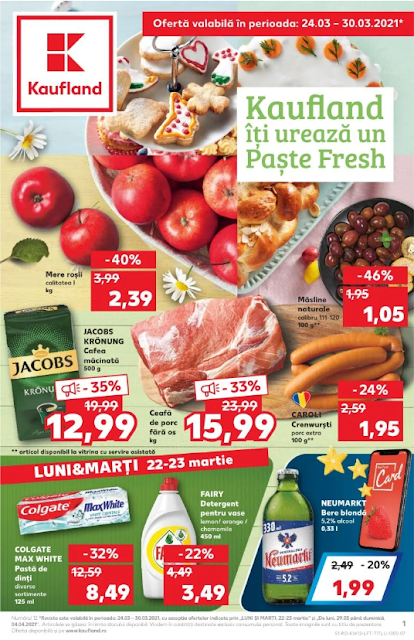 Kaufland Promotii + Catalog-Brosura 24-30.03 2021
