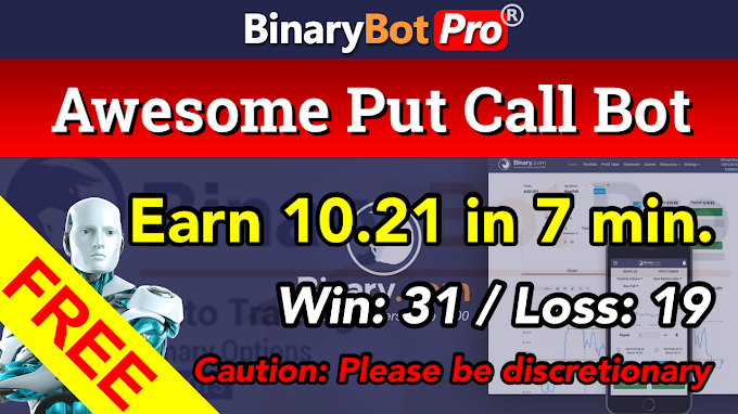 Awesome Put-Call Bot (17-Jan-2021) | Binary Bot | Free Download