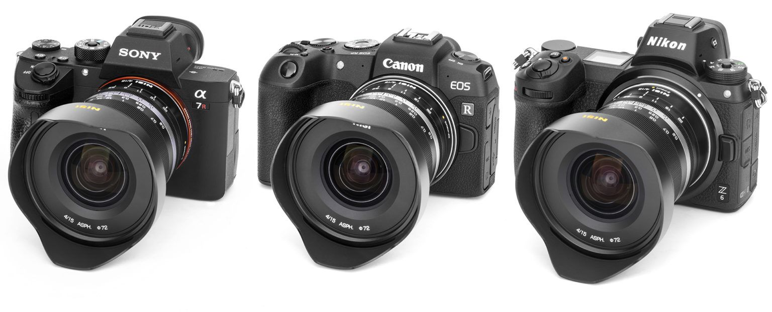 Объектив Nisi 15mm f/4.0 с камерами Sony, Canon и Nikon