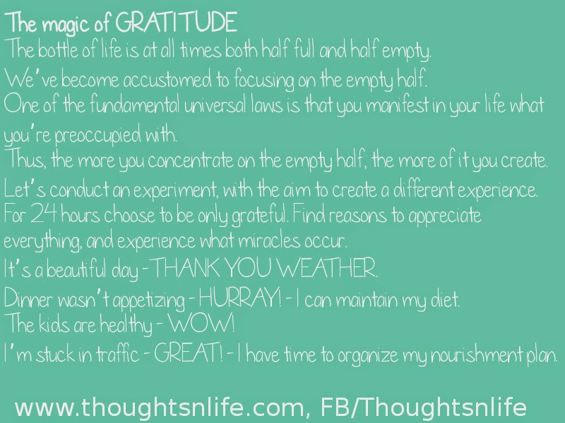 Inspirational And Motivational Quotes-Thoughtsnlife:The magic of GRATITUDE