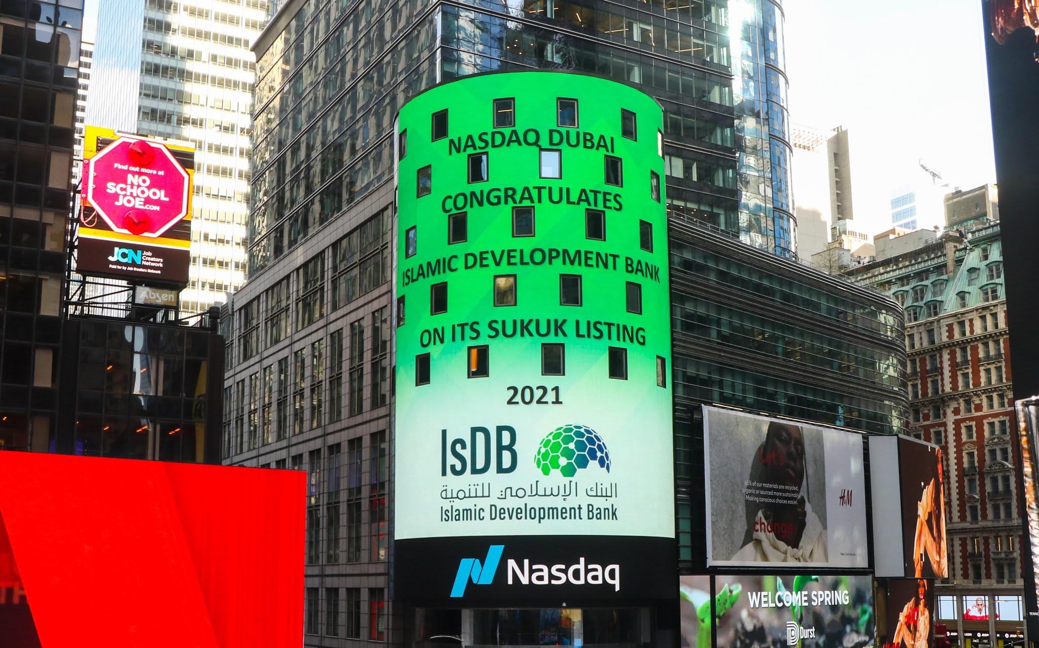 $2.5 billion Sustainability Sukuk by Islamic Development Bank (IsDB) listed on Nasdaq Dubai