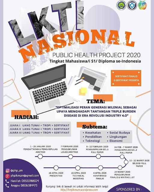 Lomba Karya Tulis Ilmiah Nasional 2020 PUBLIC HEALTH PROJECT