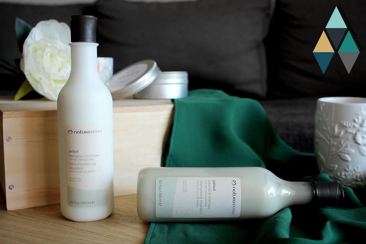 shampooing et après-shampooing réparateur cheveux secs et abimés