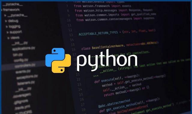 Python programlama ekranı