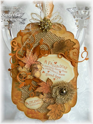 Stamps - Our Daily Bread Designs Autumn Blessings, ODBD Custom Fall Leaves and Acorn Die, ODBD Custom Fancy Foliage Die, ODBD Elegant Oval Dies
